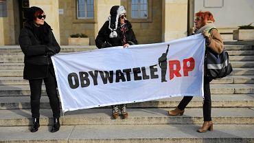 Pikieta Obywateli RP przed urzędem wojewódzkim we Wrocławiu w obronie niezawisłości sądów