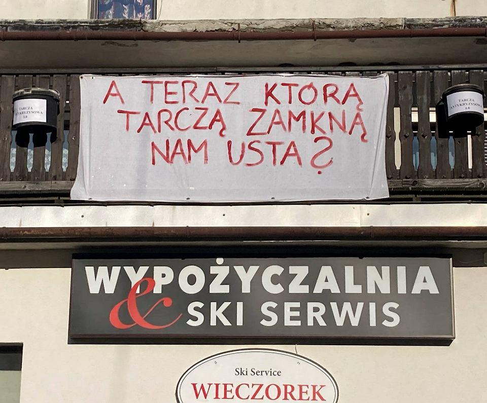Protest przedsiębiorców ze Szczyrku