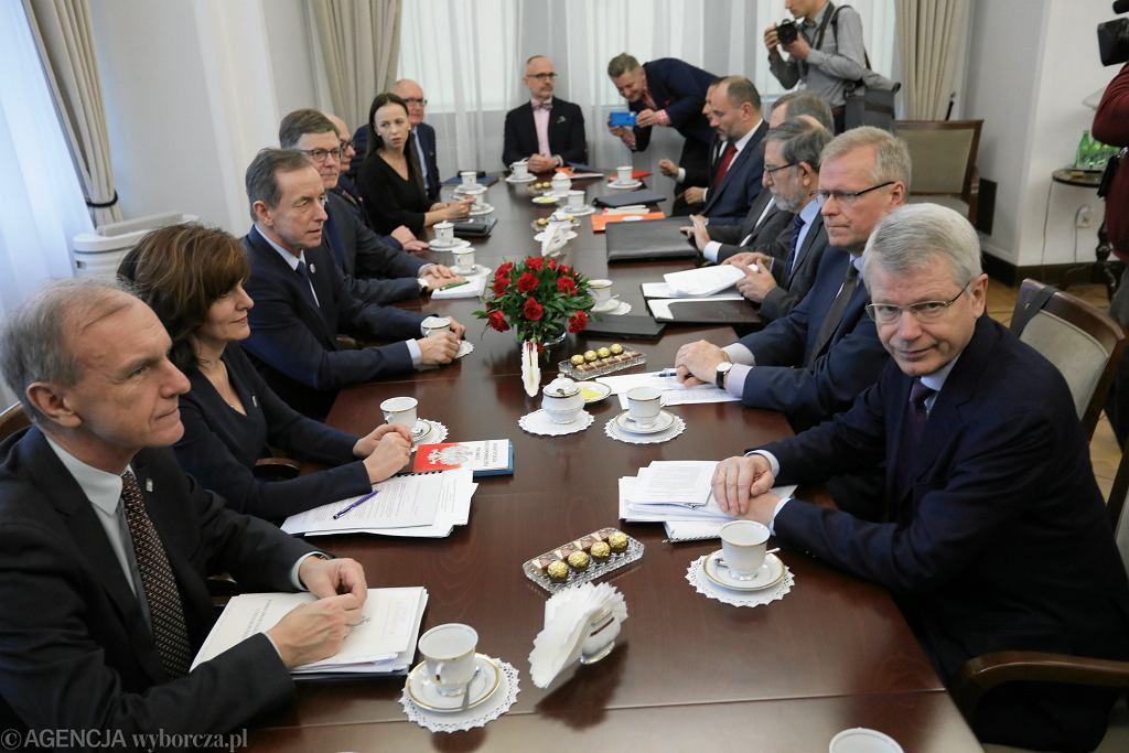 ISpotkanie przedstwicieli Komisji Weneckiej z prezydium Senatu w Warszawie