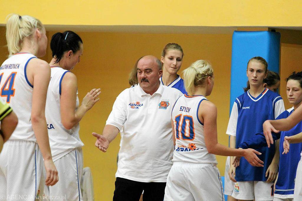 Tomasz Sztąberski podczas meczu KKS Olsztyn
