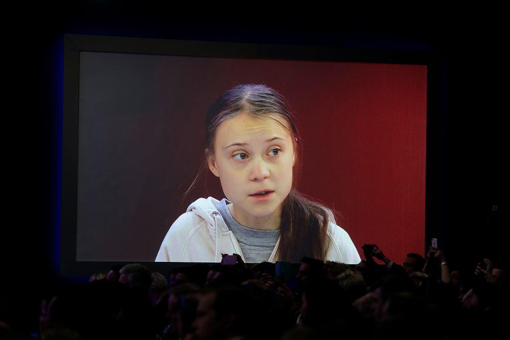 Greta Thunberg w Davos.