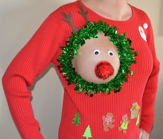 Brzydkie świąteczne sweterki. W tym roku po raz pierwszy dla karmiących mam