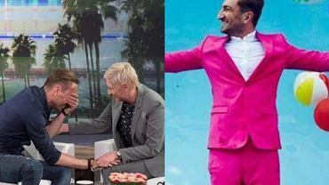 Łukasz Jakóbiak i Ellen DeGeneres