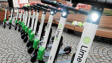 Hulajnogi elektryczne Lime w Warszawie