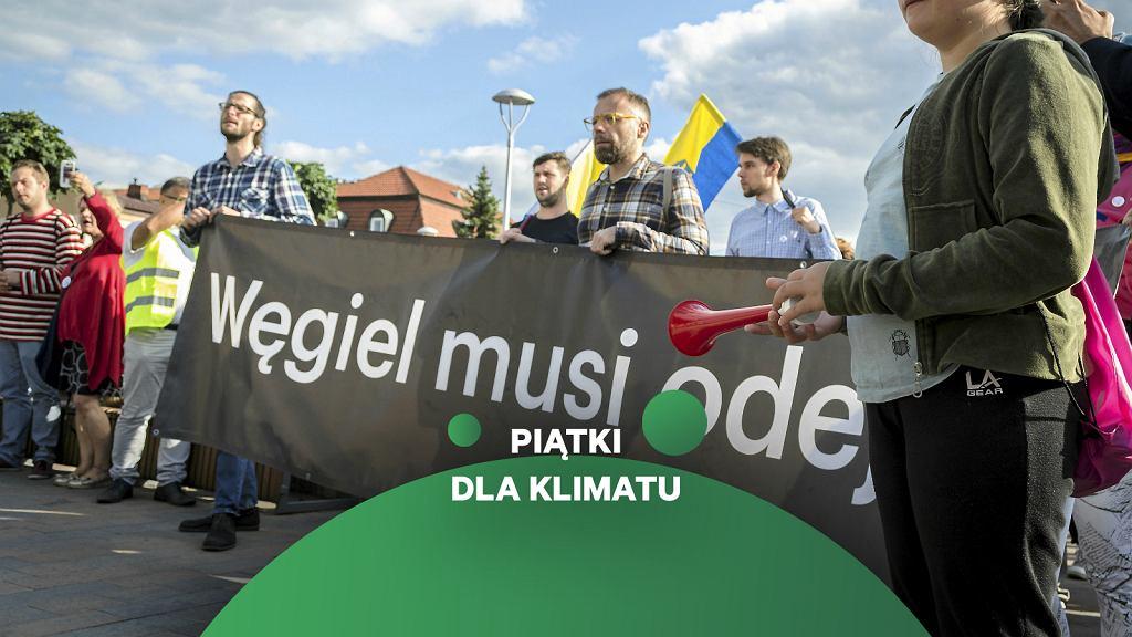 Imielin . Protest przeciw budowie kopalni we wrześniu 2019 roku