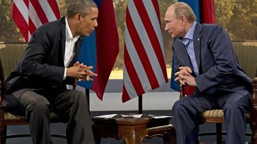 Barack Obama i Władimir Putin podczas spotkania 17 czerwca 2013 roku