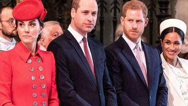 Meghan Markle i książę Harry, księżna Kate i książę William