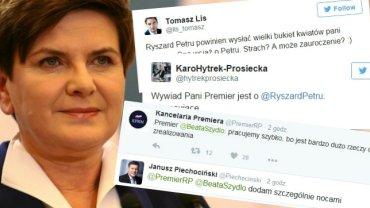 Beata Szydło i reakcje z Twittera