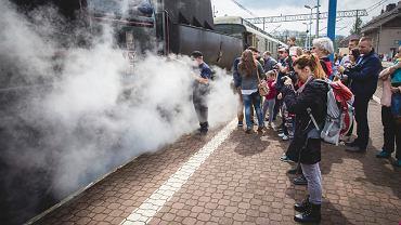 Pociąg na kolejowym szlaku Małopolski