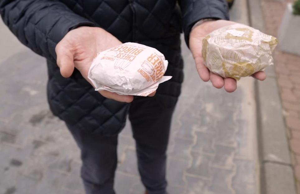 Cheesburger z McDonald's vs kanapka z Lidla.