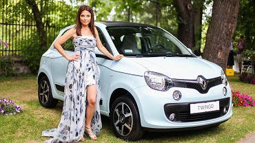 Renault Twingo bizuu i  Katarzyna Glinka, ambasadorka marki Renault