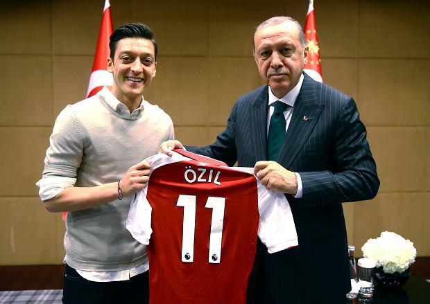 13.05.2018, Londyn, Mesut Ozil i Recep Tayyip Erdogan.