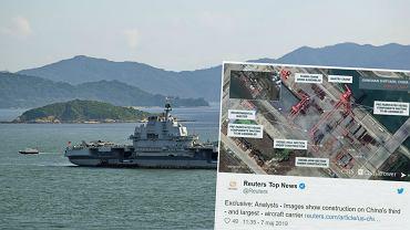 Na zdjęciu pierwszy 'chiński' lotniskowiec typu 001 - 'Liaoning'