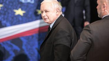 Prezes Jarosław Kaczyński podczas kongresu swojej partii. Lublin, 7 maja 2019 r.
