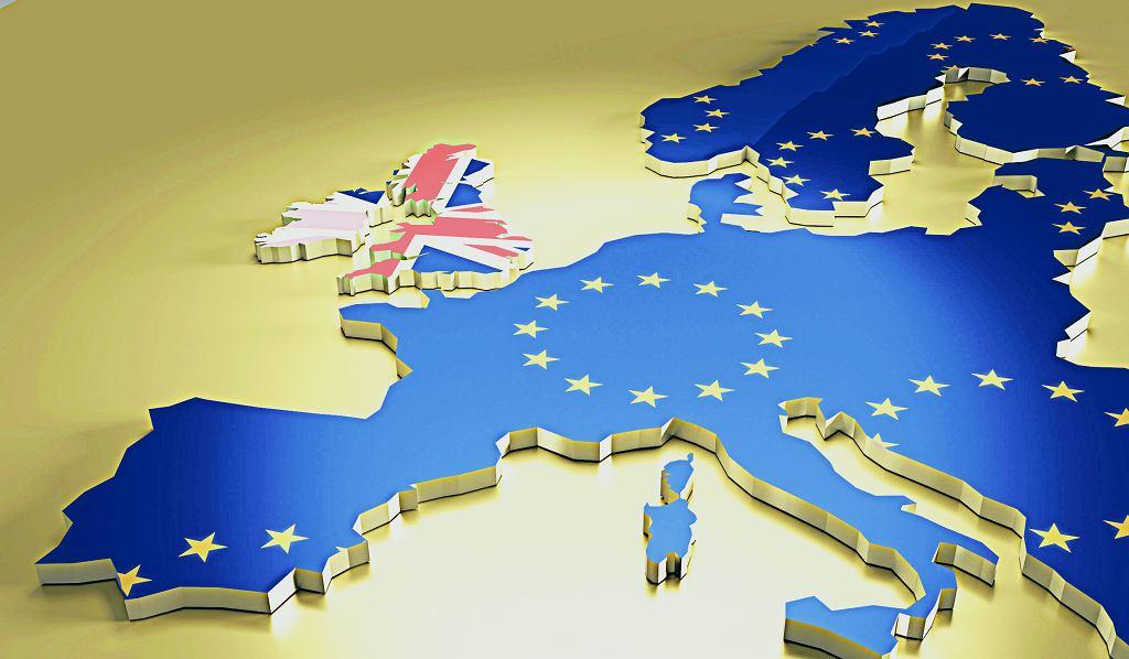 Brexit referendum concept.