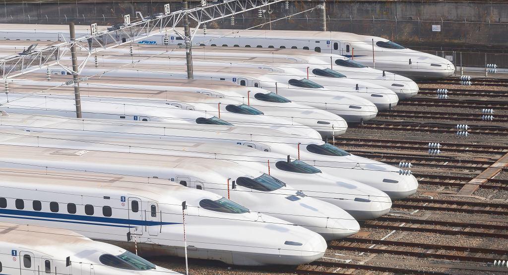 Japonia. Pociągi szybkich kolei shinkansen