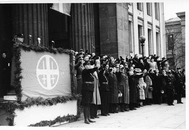 Nasjonal Samling (Zjednoczenie Narodowe) - norweska partia nazistowska wzorowana na NSDAP. Istniała w latach 1933-1945