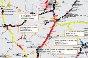 GDDKiA zapewnia, że jeszcze w tym roku pojedziemy z Łodzi do Częstochowy nową jezdnią A1