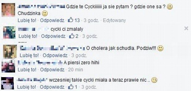 Komentarze na profilu Eweliny z Warsaw Shore