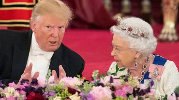 Donald Trump, królowa Elżbieta II