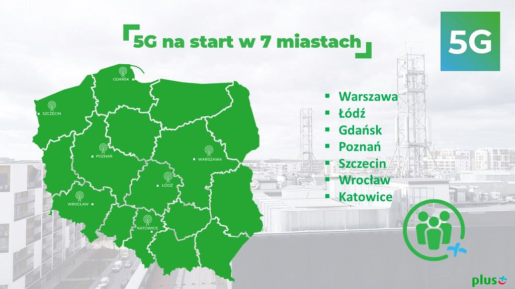 Plus uruchamia pierwszą w Polsce komercyjną sieć 5G