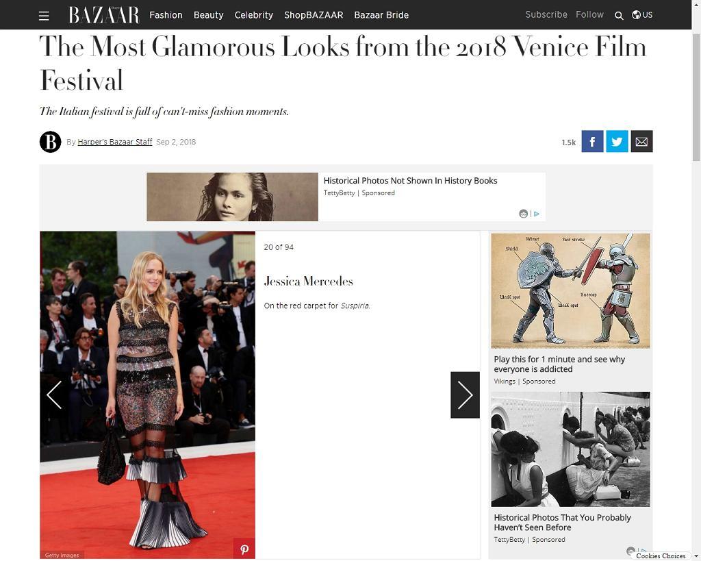Jessica Mercedes wyróżniona przez Harper's Bazaar
