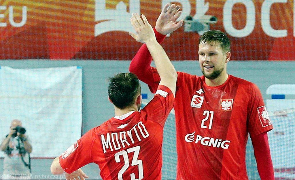 Arkadiusz Moryto i Kamil Syprzak podczas meczu Polska - Izrael