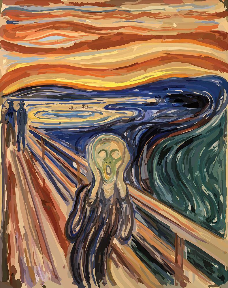 'Krzyk' Edvard Munch. Zdjęcie ilustracyjne