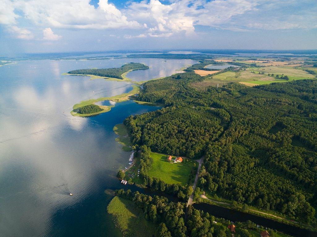 Dziennikarz odbył m.in. 30-kilometrową przejażdżkę rowerową wokół jeziora Mamry
