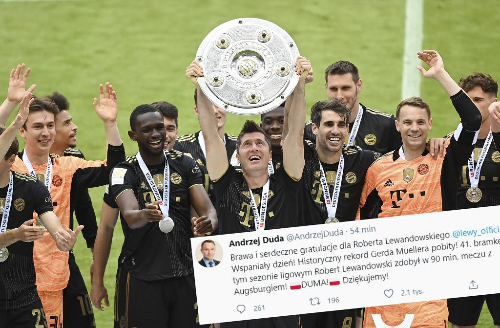 Politycy pogratulowali Robertowi Lewandowskiemu pobicia rekordu Gerda Muellera