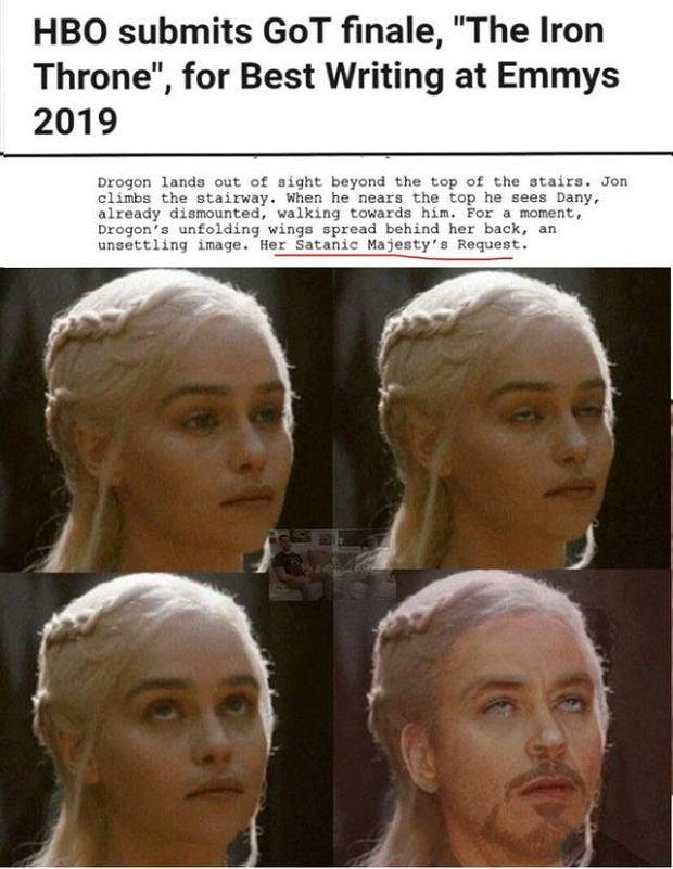 scenariusz do finału 'Gry o tron' - memy