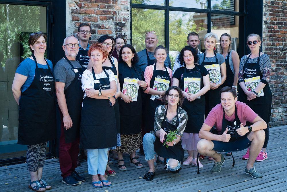 Uczestnicy wakacyjnego warsztatu magazynu KUCHNIA i Akademii Kulinarnej Whirlpool