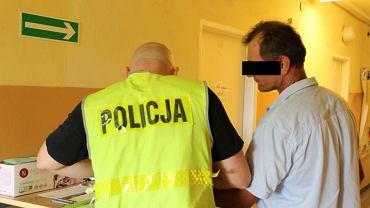 Zatrzymanie Janusza K. podejrzanego o zabójstwo policjanta Henryka Stolarka
