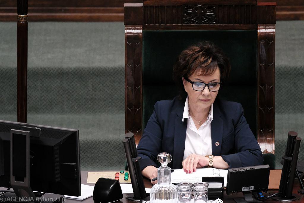 14. posiedzenie Sejmu. Marszałek Elżbieta Witek.