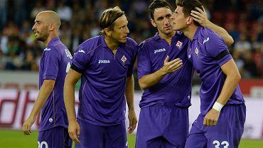 Mario Gomez (z prawej) i koledzy z Fiorentiny