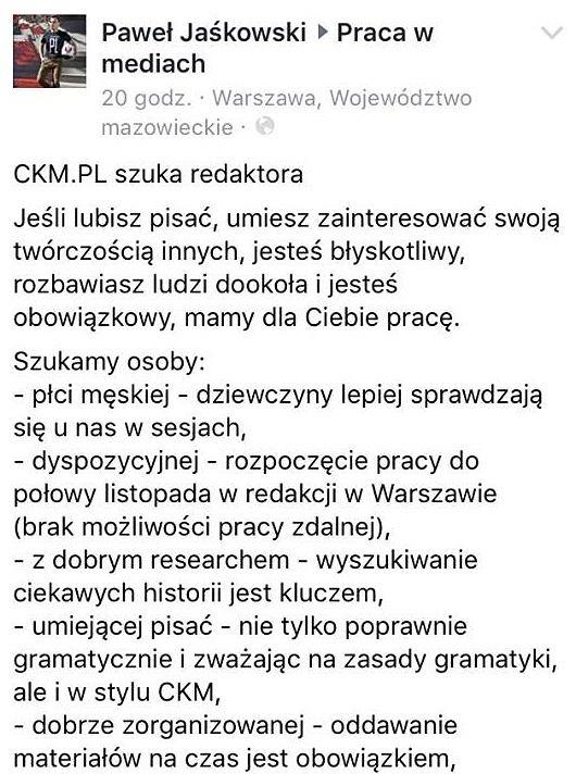Ogłoszenie CKM.pl