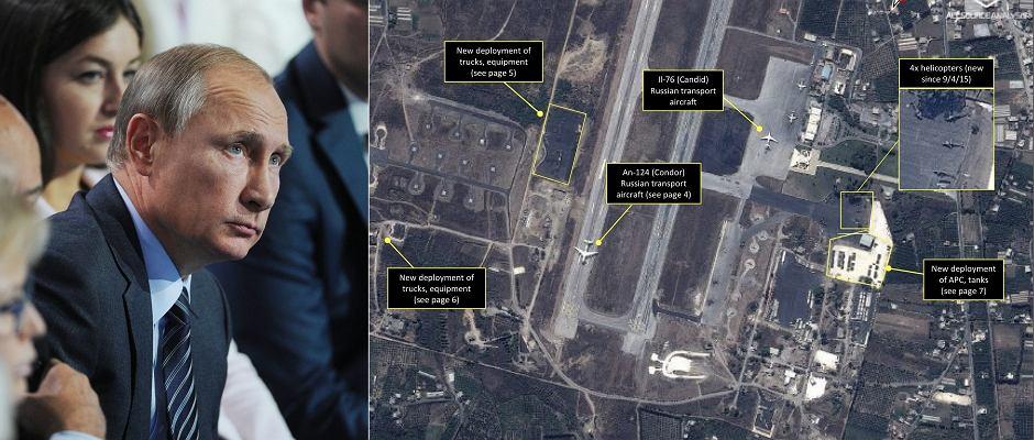 Władimir Putin, zdjęcia rosyjskiego sprzętu wojskowego w Syrii