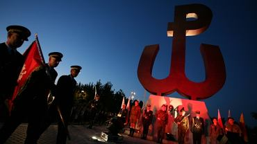 Na zdjęciu obchody 65 rocznicy wybuchu Powstania Warszawskiego