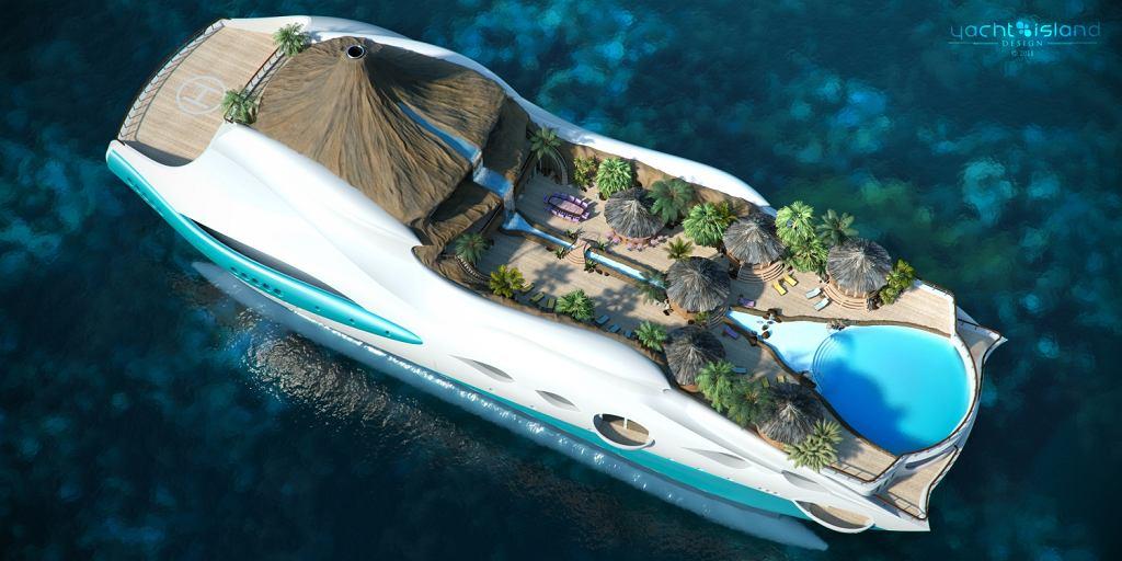 Jacht - pływająca tropikalna wyspa