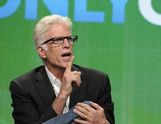 "Actor Ted Danson speaks during a panel at the The Television Critics Association 2011 Summer Press Tour in Beverly Hills, Calif. on Wednesday, Aug. 3, 2011. Danson stars in the television series ""CSI: Crime Scene Investigation"" on CBS. (AP Photo/Dan Steinberg)"