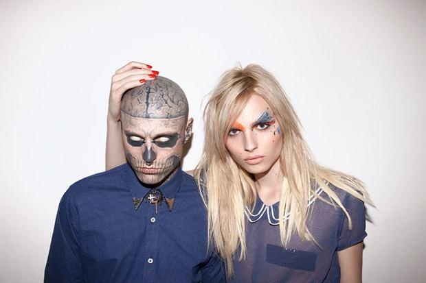 Zombie Boy (Rick Zenest) i Andrej Pejic w kampanii Auslander