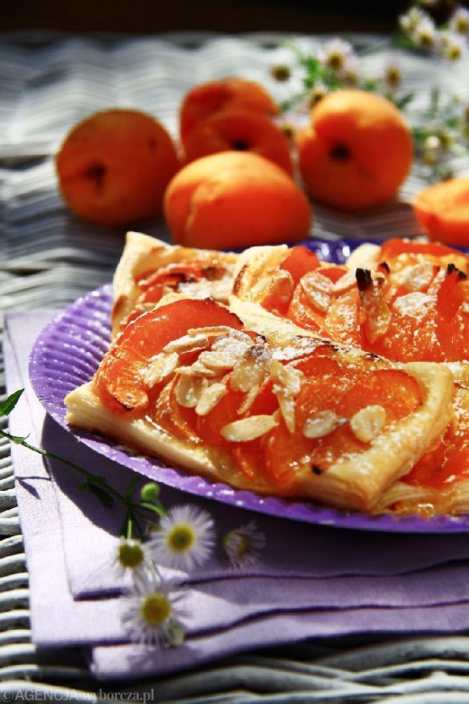 Ciasteczka francuskie z morelami i migdałami