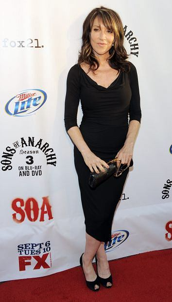 "Katey Sagal, a cast member in ""Sons of Anarchy,"" poses before a screening of the fourth season premiere of the television series, Tuesday, Aug. 30, 2011, in Los Angeles. The premiere is set on air on the FX network on Sept. 6. (AP Photo/Chris Pizzello)"