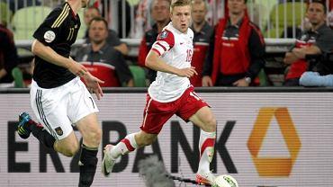 Jakub Błaszczykowski podczas meczu Polska - Niemcy (6 września 2011)