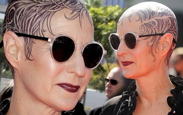 Tatuaż Zamiast Włosów Nowy Pomysł Lou Eyrich