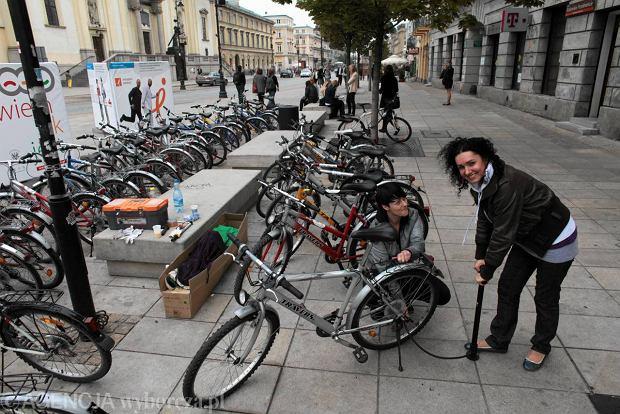 Jednodniowa wypożyczalnia rowerów na Krakowskim Przedmieściu