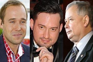 Łukasz Nowicki, Marcin Prokop i Jarosław Kaczyński.