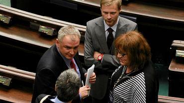Posłowie Ruchu Palikota podczas poniedziałkowego szkolenia w Sejmie