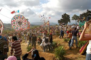 Gwatemala. Święto Zmarłych w Santiago Sacatepéquez