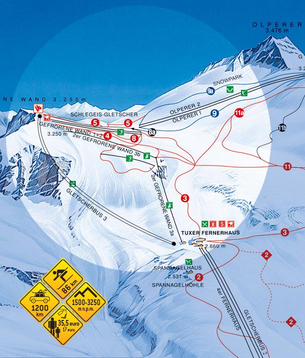 Narty w Alpach. Hintertux - Austria